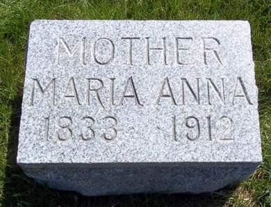 MESSERLI, MARIA ANNA - Fayette County, Iowa   MARIA ANNA MESSERLI