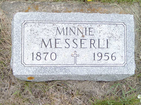MESSERLI, MINNIE - Fayette County, Iowa | MINNIE MESSERLI