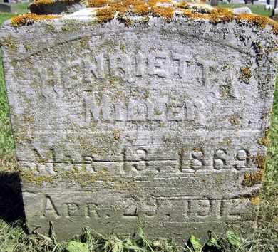 MILLER, HENRIETTA - Fayette County, Iowa   HENRIETTA MILLER