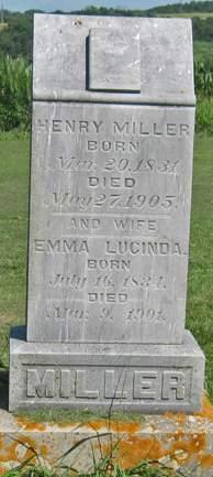 MILLER, EMMA LUCINDA - Fayette County, Iowa | EMMA LUCINDA MILLER