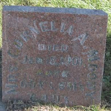 MOODY, CORNELIA A. - Fayette County, Iowa   CORNELIA A. MOODY