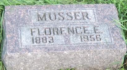 MUSSER, FLORENCE E. - Fayette County, Iowa | FLORENCE E. MUSSER