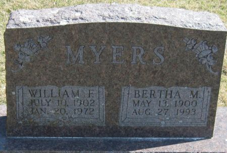 MYERS, WILLIAM F - Fayette County, Iowa | WILLIAM F MYERS