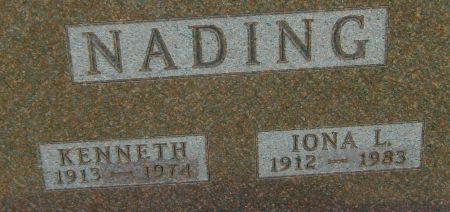 NADING, IONA L. - Fayette County, Iowa   IONA L. NADING