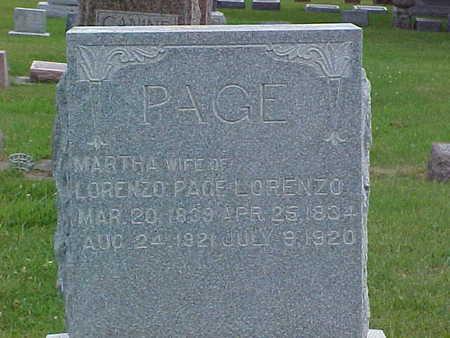 PAGE, MARTHA B. - Fayette County, Iowa | MARTHA B. PAGE