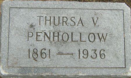 PENHOLLOW, THURSA V. - Fayette County, Iowa   THURSA V. PENHOLLOW