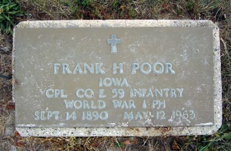 POOR, FRANK H. - Fayette County, Iowa | FRANK H. POOR