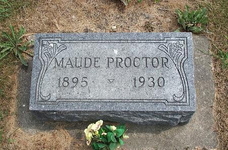PROCTOR, MAUDE - Fayette County, Iowa | MAUDE PROCTOR