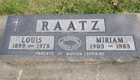 RAATZ, LOUIS - Fayette County, Iowa | LOUIS RAATZ