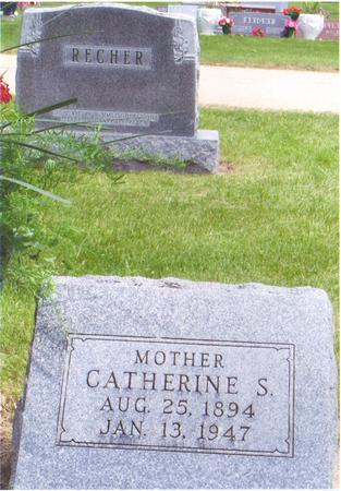 RECHER, CATHERINE - Fayette County, Iowa | CATHERINE RECHER