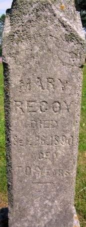 RECOY, MARY - Fayette County, Iowa | MARY RECOY
