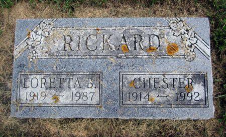 MILFORD RICKARD, LORETTA B - Fayette County, Iowa | LORETTA B MILFORD RICKARD
