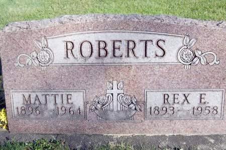 ROBERTS, REX E. - Fayette County, Iowa | REX E. ROBERTS