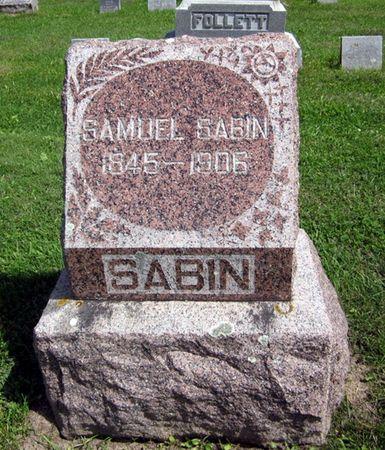 SABIN, SAMUEL - Fayette County, Iowa   SAMUEL SABIN