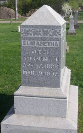 SCHMILLEN, ELISABETHA - Fayette County, Iowa | ELISABETHA SCHMILLEN