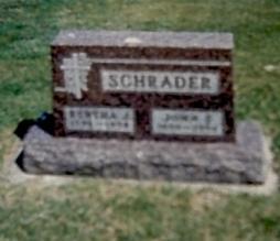 STOLTZ SCHRADER, BERTHA - Fayette County, Iowa | BERTHA STOLTZ SCHRADER