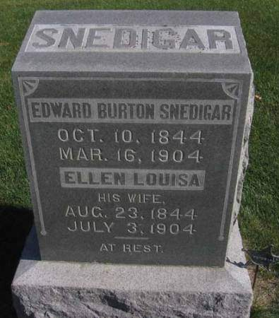 SNEDIGAR, EDWARD BURTON - Fayette County, Iowa | EDWARD BURTON SNEDIGAR