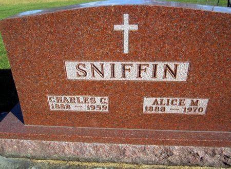 SNIFFIN, ALICE M. - Fayette County, Iowa   ALICE M. SNIFFIN