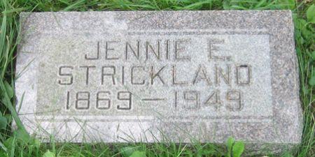 STRICKLAND, JENNIE E. - Fayette County, Iowa   JENNIE E. STRICKLAND