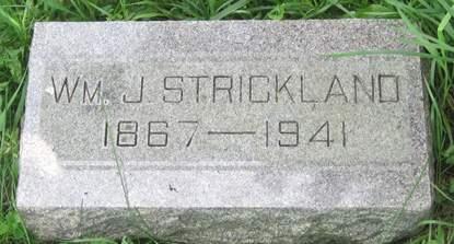 STRICKLAND, WM. J. - Fayette County, Iowa   WM. J. STRICKLAND