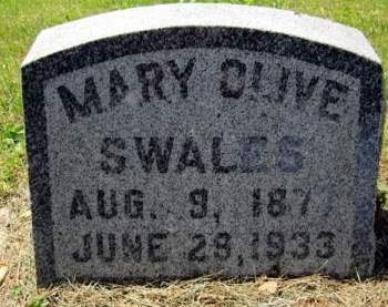 SWALES, MARY OLIVE - Fayette County, Iowa   MARY OLIVE SWALES