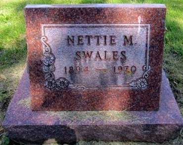 SWALES, NETTIE M. - Fayette County, Iowa | NETTIE M. SWALES