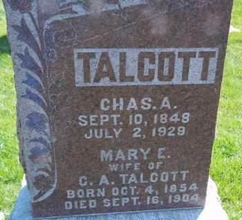 TALCOTT, CHAS. A. - Fayette County, Iowa | CHAS. A. TALCOTT