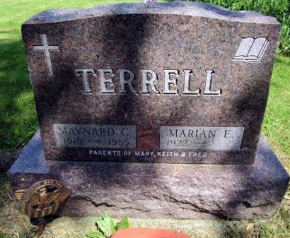 TERRELL, MARIAN E. - Fayette County, Iowa   MARIAN E. TERRELL