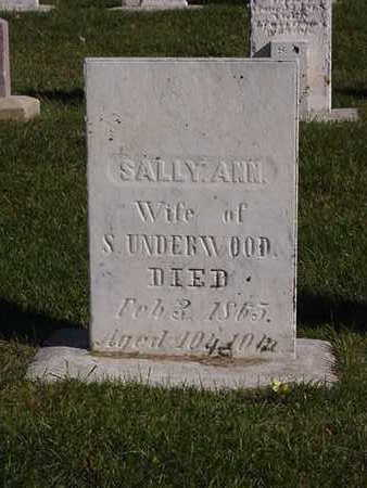 UNDERWOOD, SALLY ANN - Fayette County, Iowa | SALLY ANN UNDERWOOD