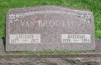 VAN BROCKLIN, MATTIHAS - Fayette County, Iowa   MATTIHAS VAN BROCKLIN