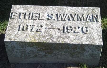 WAYMAN, ETHEL S. - Fayette County, Iowa | ETHEL S. WAYMAN