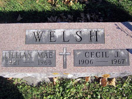 WELSH, LILLIAN MAE - Fayette County, Iowa | LILLIAN MAE WELSH
