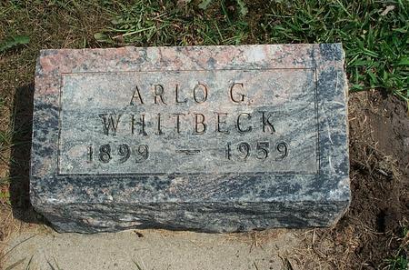 WHITBECK, ARLO GEORGE - Fayette County, Iowa | ARLO GEORGE WHITBECK