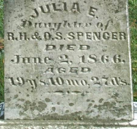 SPENCER, JULIA E. - Fayette County, Iowa | JULIA E. SPENCER