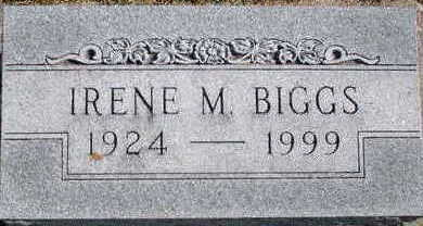 BIGGS, IRENE M - Floyd County, Iowa | IRENE M BIGGS