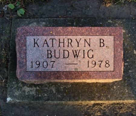 BUDWIG, KATHRYN B. - Floyd County, Iowa | KATHRYN B. BUDWIG