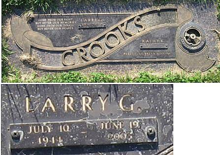 CROOKS, LARRY GILBERT - Floyd County, Iowa | LARRY GILBERT CROOKS