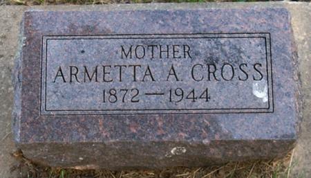 CROSS, ARMETTA - Floyd County, Iowa | ARMETTA CROSS