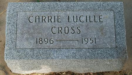 CROSS, CARRIE LUCILLE - Floyd County, Iowa | CARRIE LUCILLE CROSS