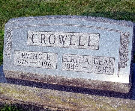 CROWELL, BERTHA ELVIRA - Floyd County, Iowa | BERTHA ELVIRA CROWELL