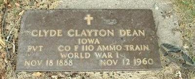 DEAN, CLYDE CLAYTON - Floyd County, Iowa | CLYDE CLAYTON DEAN