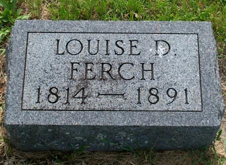 FERCH, LOUISE D. - Floyd County, Iowa   LOUISE D. FERCH