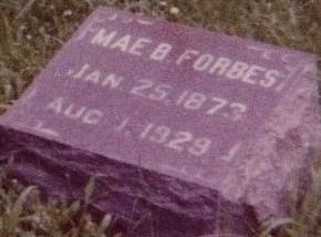 FORBES, MAE B. - Floyd County, Iowa   MAE B. FORBES