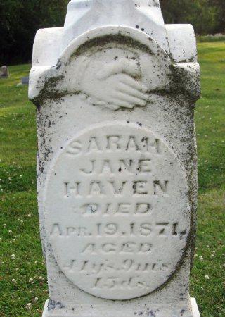 HAVEN, SARAH JANE - Floyd County, Iowa | SARAH JANE HAVEN