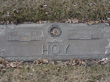 HOY, MARION HERBERT - Floyd County, Iowa | MARION HERBERT HOY
