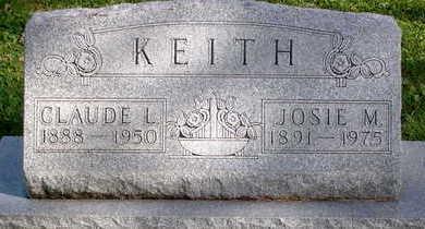KEITH, JOSIE M - Floyd County, Iowa | JOSIE M KEITH