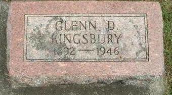 KINGSBURY, GLEN  D. - Floyd County, Iowa | GLEN  D. KINGSBURY