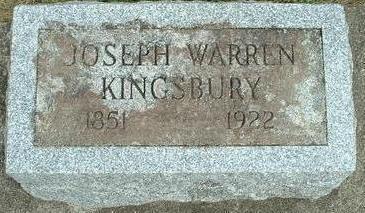 KINGSBURY, JOSEPH  WARREN - Floyd County, Iowa | JOSEPH  WARREN KINGSBURY