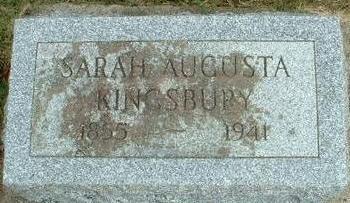 DEAN KINGSBURY, SARAH AUGUSTA - Floyd County, Iowa | SARAH AUGUSTA DEAN KINGSBURY