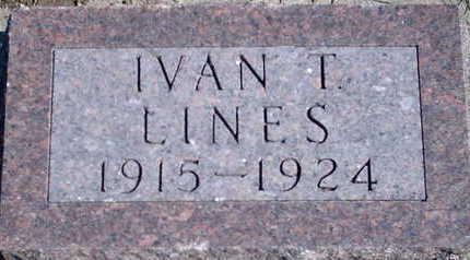 LINES, IVAN T - Floyd County, Iowa | IVAN T LINES